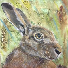 "Our hospice art auction on 20x20"" is fast approaching. I started a hare in oil, but have really been struggling, having not used oil for about a year, I have got rusty! I will finish it, but decide..."
