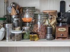 Glass Jars, Mason Jars, Couscous, Kitchen Tools, Lentils, Quinoa, Cereal, Beans, Spices