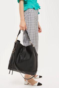 HATTIE Zip Pocket Hobo Bag