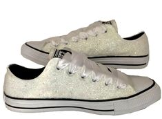 TAKE  10 OFF CODE  SPARKLE10 www.glittershoeco.com Womens Sparkly White or  Ivory. Glitter Shoe Co 60e8dfd7bb