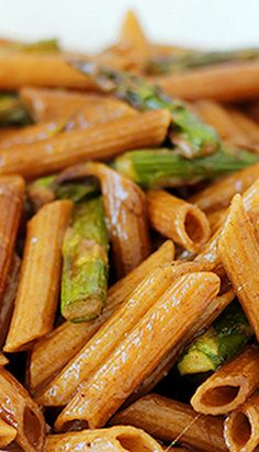 Balsamic Glazed Penne with Roasted Asparagus