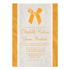 See MoreOrange Vintage Bow & Linen Wedding Invitations Announcementin each seller & make purchase online for cheap. Choose the best price and best promotion as you thing Secure Checkout you can trust Buy best