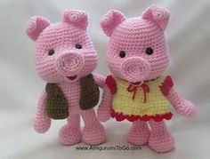 Free dressed up pigs pattern