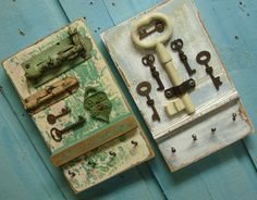 Key Holder Rack Gray Cloud Skeleton Key. $49.00, via Etsy.