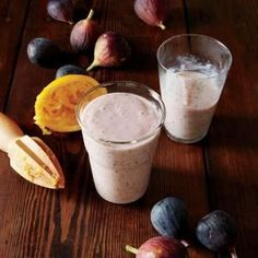 Sweet Fig Smoothies | MyRecipes.com This recipe offers a great use for figs that are very ripe (or even overripe) and need to be used soon. The riper the fig, the sweeter and more delicious in this creamy breakfast drink.