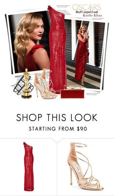 """Oscars 2017 Red Carpet look: Karlie Kloss"" by sella103 ❤ liked on Polyvore featuring Naeem Khan, Steve Madden and Sara Battaglia"