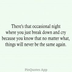 Maybe someday it won't be every night but occasional....