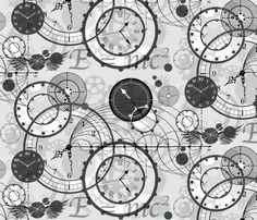 Time Is A Man Made Concept fabric by poetryqn on Spoonflower - custom fabric