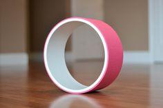 Yoga Wheel/Fitness Wheel White&Pink by AReedYogaWheels on Etsy