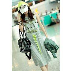 Euro Style Summer Hood Women Cotton Dress One Size @RKD1003351 ($13) via Polyvore