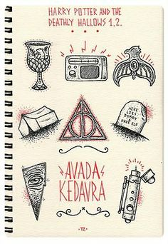 seven book drawings