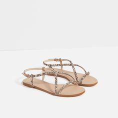 STRAPPY SANDALS WITH GEM DETAIL
