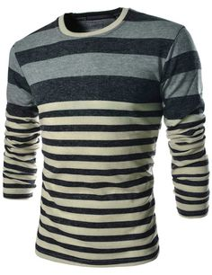Men's Long Sleeve Striped Knit Shirt – Tattee Boy Clothes