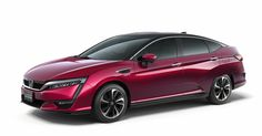 Honda's Clarity Fuel Cell sedan, capable of 434 miles on a single tank, is the brand's first production hydrogen fuel cell vehicle.