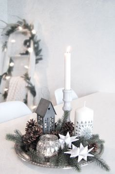 What a beautiful Christmas vignette!