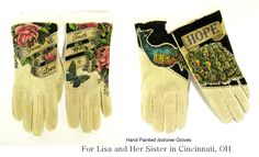 Isotoner Gloves - hand painted https://www.facebook.com/pages/Wear-the-WORD/412263378821782