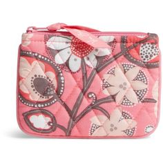 Vera Bradley Coin Purse in Blush Pink ($14) ❤ liked on Polyvore featuring bags, wallets, blush pink, coin purse wallets, red wallet, coin pouch wallet, piping bag and change purse