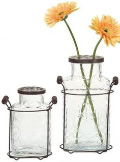 glass jar vases with flower frog lids are perfect for more than flowers.
