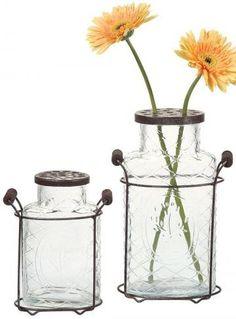 Glass Jar Vase $19