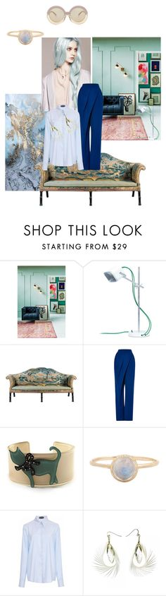 """""""acquamarina palette"""" by roxariaone ❤ liked on Polyvore featuring interior, interiors, interior design, home, home decor, interior decorating, Anthropologie, Vika Gazinskaya, Avalaya and Rochas"""
