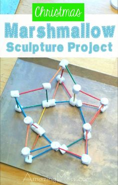 This is one of the easiest (and best) open-ended activities for kids. Your budding engineer will love figuring out what they can make from marshmallows and toothpicks! End Of Year Activities, Craft Activities For Kids, Christmas Activities, Learning Activities, Projects For Kids, Preschool Activities, Marshmallow Activities, Kids Math, Stem Projects