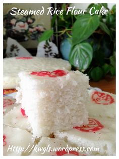 Teochew Huat Kuih or Ka Kuih (潮州发糕, 潮州酵糕, 米糕, 松糕) - Steamed Rice Flour Cake