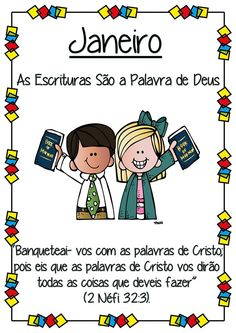 Meninas,  A Luciana Barros (Rio de Janeiro-RJ) fez uns cartazes super fofos com os temas e escrituras mensais do Tempo de Compartilhar de 2...