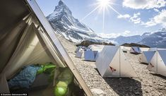 Magical mountains: Campers can wake up to these stunning views in the morning...