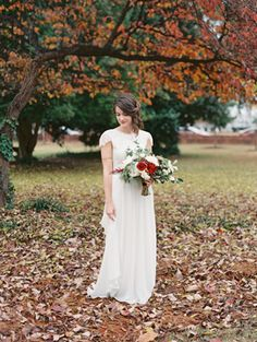 Rustic Outdoor Fall Wedding via oncewed.com #fallwedding