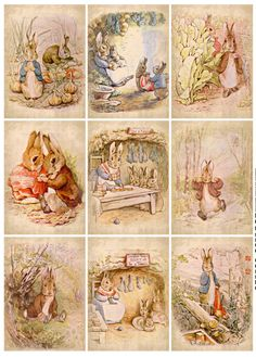 Set of 9 ~Beatrix Potter #1 ~ Hang Tags