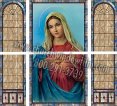 Customer supplied image of Mary highlights this custom church window film job featuring on the sides Film Jobs, Stained Glass Window Film, Images Of Mary, Church Windows, Window Films, Highlights, Princess Zelda, Gallery, Decor