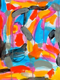 Mixed media painting on mixed media paper.