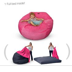 Cord a Roys bean bag chairs with a bed inside... love ours! http://www.fashiondivaly.com/
