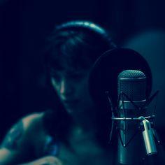 Christa sings lead at Electrical Audio Recording Studios. #punkrock #leadvocals #punkrock #nybands #rockband #tattoo