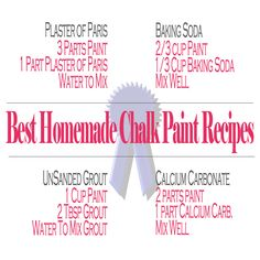 4 great recipes for chalk paint