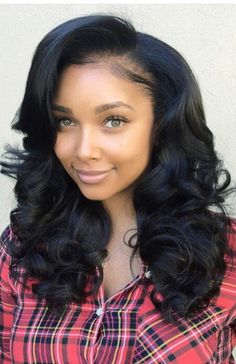 Swept side bangs wavy wigs long wigs lace front wigs human hair wigs wigs for black women african american wigs Swept side bangs wavy wigs long wigs lace front wigs human hair wigs wigs for black wome My Hairstyle, Wig Hairstyles, Straight Hairstyles, Black Hairstyles, Hairstyles 2016, Elegant Hairstyles, Wedding Hairstyles, Urban Hairstyles, Teenage Hairstyles