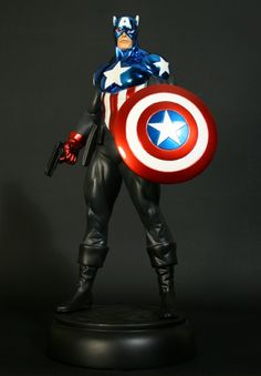 Bucky as Modern Captain America statue  Sculpted by: Randy Bowen    Release Date: October 2009  Edition Size: 800  Order Of Release: Phase IV (statue #174)