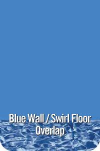 GLI Pool Products Swirl Bottom, Blue Wall Overlap Above Ground Pool Vinyl Liners