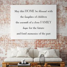 Tekst op canvas - May this home be blessed