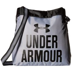 Under Armour UA Armour Crossbody (Steel/Black) Cross Body Handbags (1.180 RUB) ❤ liked on Polyvore featuring bags, handbags, shoulder bags, blue, crossbody tote bag, purse crossbody, man bag, blue tote and hand bags