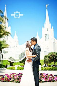 wedding - LDS San Diego Temple  Terina Matthews Photography