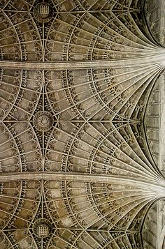 Ceiling, Kings College Chapel, Cambridge by Justin Reynolds, via Flickr