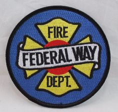 Federal Way Fire Department Patch Washington WA Blue Fire Dept, Fire Department, Federal Way, Patches For Sale, Juventus Logo, Selling On Ebay, Firefighter, Lettering, Logos