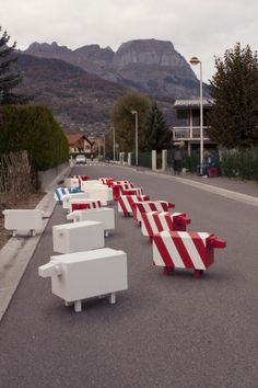 Traffic Sheep by Christopher Machet: Commissioned by the Municipality of Gland, Switzerland : )
