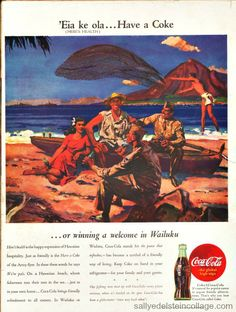 vintage coke ad - hawaii