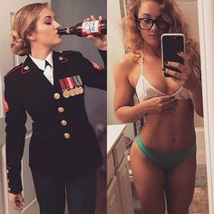 she can do both 22070795 100615284025689 4456834915350085632 n Beautiful badasses in (and out of) uniform (39 Photos)