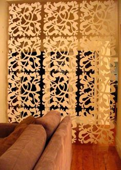 Room Divider idea... I have seen these things at the filler store! Could make it a DIY so easy!! And cheap!!!