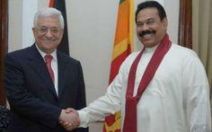 President Mahinda Rajapaksa with Palestinian President Mahmoud Abbas