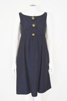 Moschino short dress Navy Blue Romper Wool Blend Schoolgirl on Tradesy 77% Off #moschino #Cheapandchic #romper #Cutedresses #incognitoconsignment #BigButtons #WeartoWork