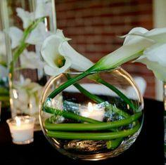 Calla lily centerpiece idea